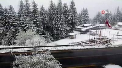 Çankırı'ya mevsimin ilk karı yağdı