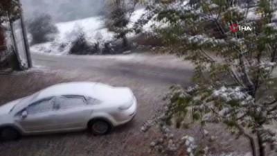 hava sicakligi -  İnegöl'de yüksek kesimler beyaza büründü