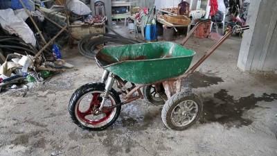 Motosiklet parçalarından el arabası yaptı - HATAY