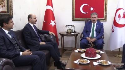 BBP Genel Başkanı Destici, Türk Eğitim-Sen Genel Başkanı Geylan'ı kabul etti - ANKARA