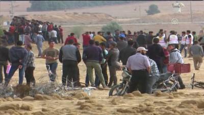 Gazze sınırındaki 'Büyük Dönüş Yürüyüşü' gösterileri 31'inci cumasında (1) - HAN YUNUS