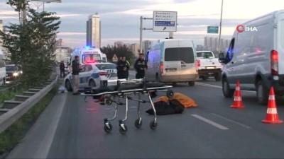 servis araci -  Haramidere- TEM bağlantı yolunda kaza: 1 ölü
