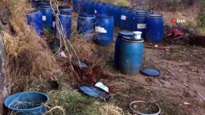 Kaçak içki operasyonunda 3 bin 450 litre kaçak içki ele geçirildi