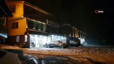 kar manzaralari -  Zigana'ya yılın ilk karı düştü
