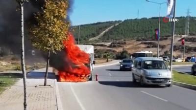 Aracına müdahale eden sürücünün tüpü bitti, hiç bir sürücü yardım için durmadı