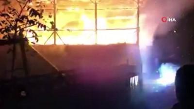 Yangında patlayan elektrik trafosu mahalle halkına korkulu anlar yaşattı