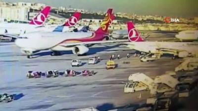 Atatürk Havalimanı'nda uçak kazasını TGS personeli önledi