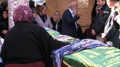 agir yarali -  Feci kazada hayatını kaybeden polis ve ailesi son yolculuklarına uğurlandı