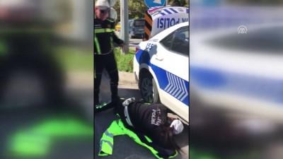 yavru kedi - Polis aracının tekerine sıkışan yavru kedi kurtarıldı - MUĞLA