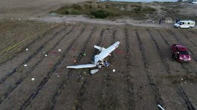 Eğitim uçağının düştüğü yer havadan görüntülendi - ANTALYA