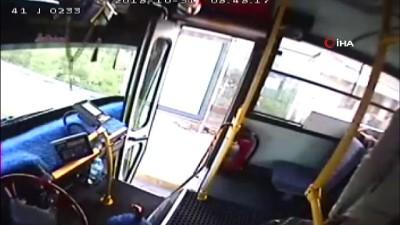 Halk otobüsüne binen köpek ortalığı savaş alanına çevirdi...Olay anları kamerada