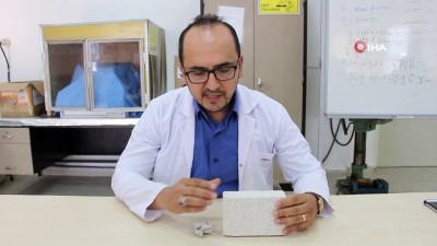 OMÜ'lü akademisyen yerli yapay kemik üretti