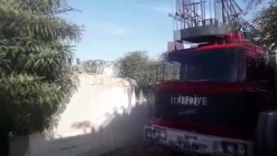 yangin yeri -  Anne ve 3 çocuğunu yangından kurtaran 'Cesur' sadece havlamamış, kahvehaneye gidip vatandaşları paçalarıdan tutup yangın bölgesine götürmüş