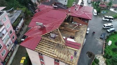 Yine Muradiye yine dere üzerinde bir bina... Yıkım kararı alınan bina havadan görüntülendi