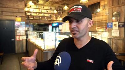 ABD'deki Türk pizzacıdan kasırga mağdurları yararına dev pizza - NEW YORK