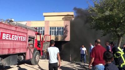 akaryakit istasyonu - Adıyaman'da akaryakıt istasyonunun deposunda yangın