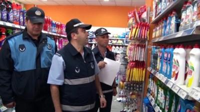 bulduk -  Büyükşehir zabıtadan marketlere etiket baskını