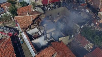 itfaiye eri - Dinar'da ev yangını - AFYONKARAHİSAR