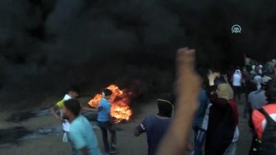 Gazze'deki barışçıl gösterileri takip eden basın mensupları zor anlar yaşadı - GAZZE