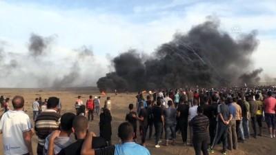 Gazze'deki Büyük Dönüş Yürüyüşü gösterileri devam ediyor (4) - HAN YUNUS
