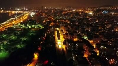 Gebze-Haydarpaşa tren hattında son durum havadan görüntülendi