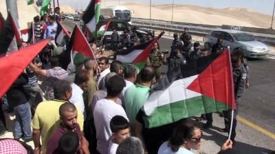 İsrail'in Han el-Ahmer'i yıkma kararı protesto edildi