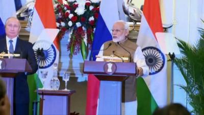 Putin'den Hindistan ile askeri iş birliği vurgusu - YENİ DELHİ
