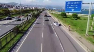 Trabzon il genelinde Drone ile trafik denetimleri başladı