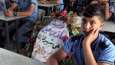 Gazzeli şehit çocuğun okulunda sessizlik ve hüzün hakim - GAZZE