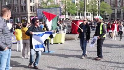 Hollanda'da Filistin gösterisinde İsrail taraftarından saldırı - AMSTERDAM