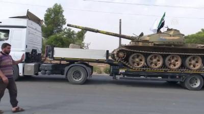 rejim karsiti - Cephe hatlarındaki ağır silahların çekilmesi tamamlandı (2) - İDLİB