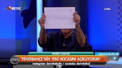 Ahmet Çakar Çarkıfelek yaptı F.Bahçe'nin yeni hocasını açıkladı