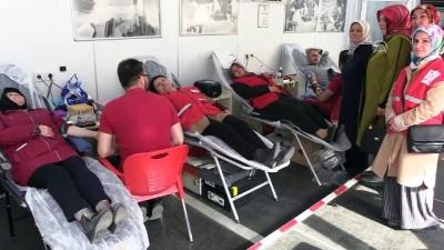 AK Parti Kadın Kollarından kan bağışı - AMASYA