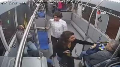 Halk otobüsünde taciz iddiası