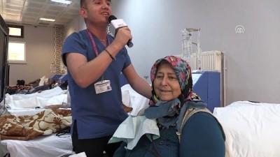 Hemşirelerden diyaliz hastalarına şarkılı moral - AMASYA