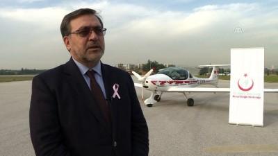 Sportif uçak kanser ile mücadele için havalandı - BURSA