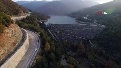 Doğancı Barajı ve Nilüfer Barajı havadan görüntülendi