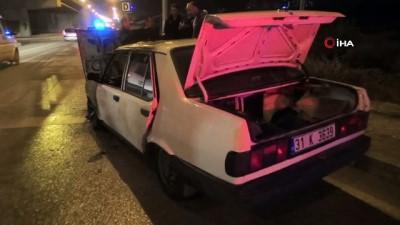 Hatay'da LPG'li araç alev alev yandı