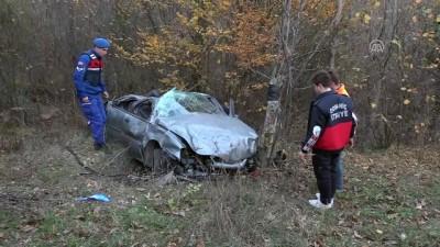 Otomobil şarampole devrildi: 4 yaralı - KÜTAHYA