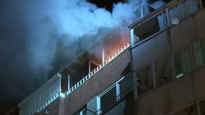 Kağıthane'de bina yangını - İSTANBUL