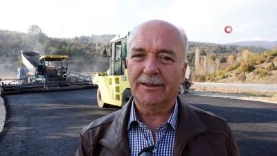 Balıkesir-Dursunbey yolunda asfalt çalışmaları başladı