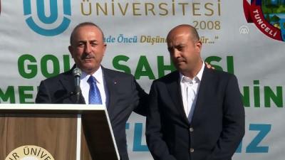 Çavuşoğlu: 'Türkiye'de golfun sevilmesine Tuncelili kardeşlerimiz katkı sağlıyor' - TUNCELİ