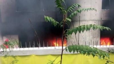 Hastane inşaatında yangın - ZONGULDAK