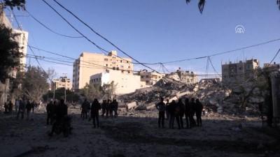 sehit - İsrail'in saldırılarında birçok bina enkaza dönüştü - GAZZE