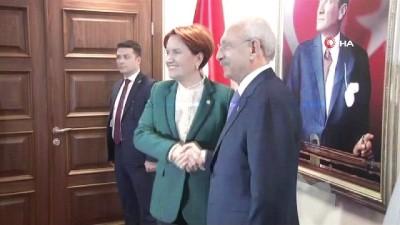 Kılıçdaroğlu ile Akşener görüşmesi başladı