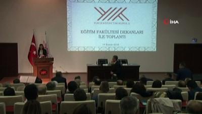Bakan Selçuk, üniversite rektörleri ve eğitim fakültesi dekanları ile bir araya geldi