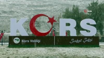 Kars'tan kartpostallık kar görüntüleri