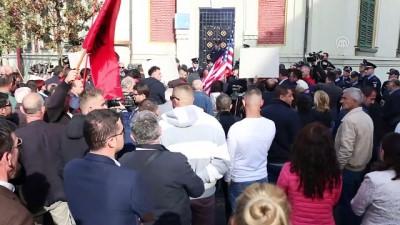 baskent - Arnavutluk'ta 'Çevreyolu' protestosu - TİRAN