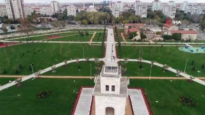 Baruthane Millet Bahçesi'nin açılış öncesi son hali drone ile görüntülendi