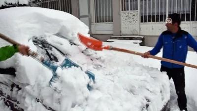 Sarıkamış'da kar yağışı - KARS